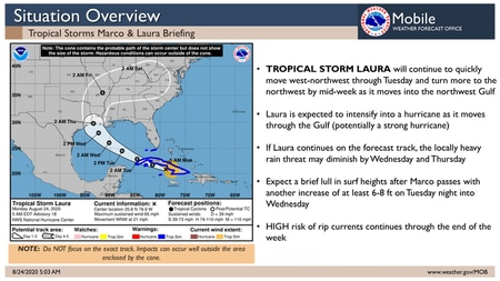 NWS Mobile Laura overview